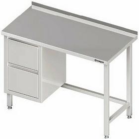 Stalgast Stół przyścienny z blokiem dwóch szuflad (L) 1100x700x850 mm 980247110