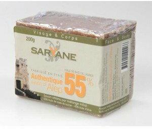 ALEPPO Mydło w kostce z 55% 200g - Saryane