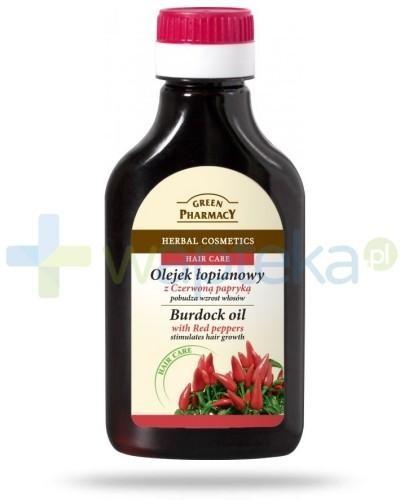 Green Pharmacy ELFA PHARM POLSKA Olejek łopianowy z czerwoną papryką - pobudza wzrost włosów 100 ml Elfa Pharm 7050044