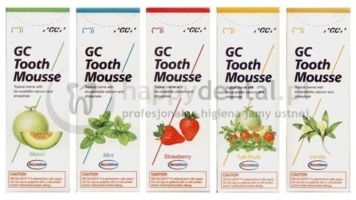 GC Corporation GC Tooth Mousse 35ml - ochronna pasta o potrójnym działaniu - wzm
