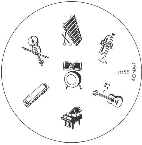 Konad Płytka do wzorków M58