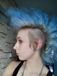 Niebieski Irokez