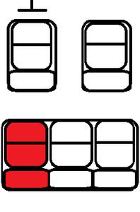 Z tyłu przy oknie, z lewej strony (za kierowcą)