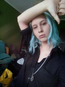 Półdługie Jasno Niebieskie