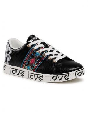Desigual Sneakersy Cosmic Exotic Indian 21SSKP28 Czarny