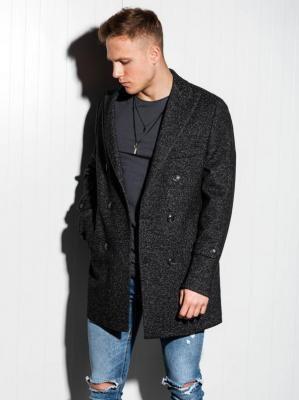 Płaszcz męski oversize C429 - czarny - XXL
