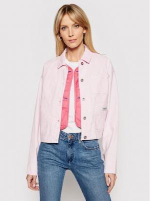 Converse Kurtka jeansowa My Story Utility 10021081-A03 Różowy Regular Fit
