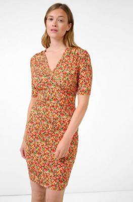 Dżersejowa sukienka w kwiaty