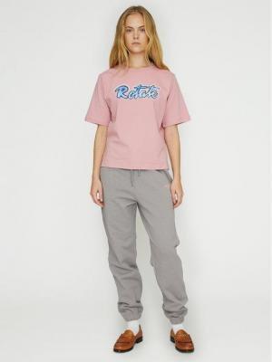 ROTATE Spodnie dresowe Mimi RT473 Szary Loose Fit