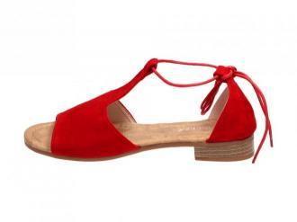 Czerwone sandały damskie VINCEZA 17087 WIĄZANE