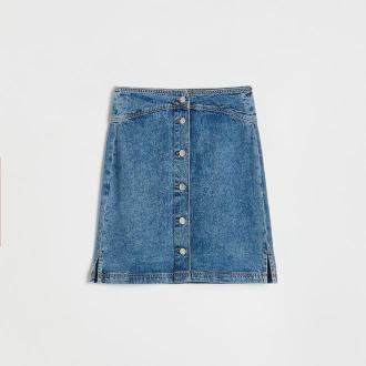 Reserved - Denimowa spódnica - Niebieski