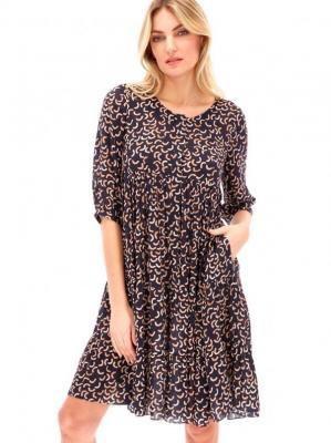 Rozkloszowana wzorzysta sukienka L'AF FELINA