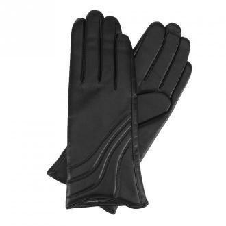 Damskie rękawiczki ze skóry z przeszyciem