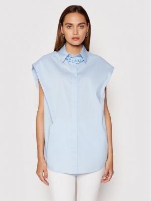 Imperial Koszula CJU2BBE Niebieski Oversize