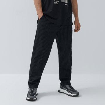 House - Eleganckie spodnie z wiskozą - Czarny