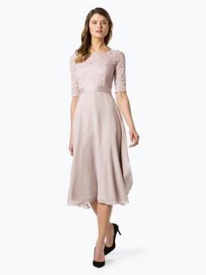 Swing - Damska sukienka wieczorowa, różowy