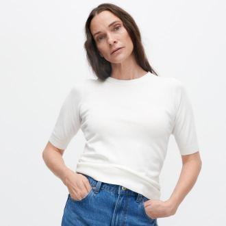 Reserved - Lekki sweter z wiskozą - Kremowy