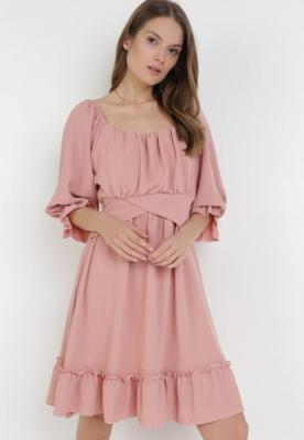 Różowa Sukienka Metiosesis