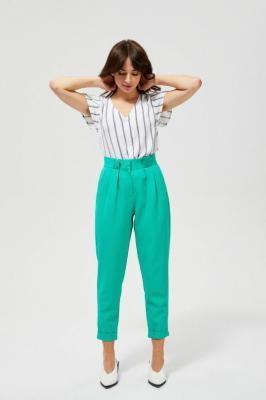 Spodnie w kant z wysokim stanem