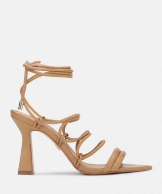 Jasnobrązowe sandały damskie