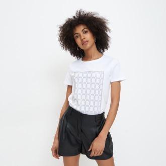 Mohito - Koszulka z błyszczącym nadrukiem - Biały