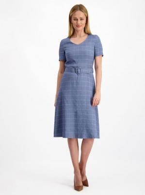Biznesowa sukienka w kratę Lavard Woman 84952