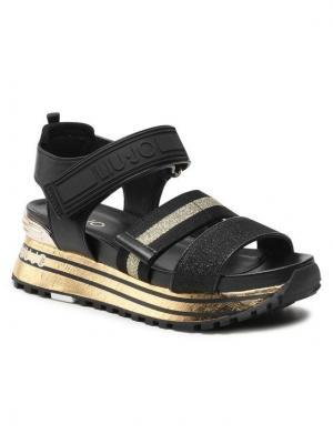 Liu Jo Sandały Maxi Wonder Sandal 7 BA1073 TX116 Czarny
