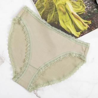 Zielone damskie bawełniane figi - Bielizna