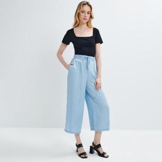 Mohito - Spodnie kuloty Eco Aware - Niebieski