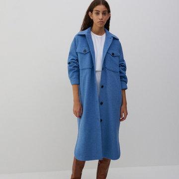 Reserved - Płaszcz z wełną - Niebieski