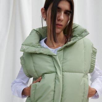 Reserved - Pikowana kamizelka - Zielony
