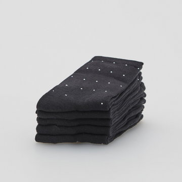 Reserved - Bawełniane skarpetki 5 pack - Czarny