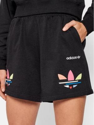 adidas Szorty sportowe adicolor Shattered Trefoil H22849 Czarny Relaxed Fit