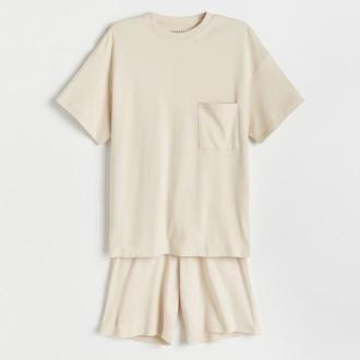 Reserved - Piżama dwuczęściowa - Kremowy