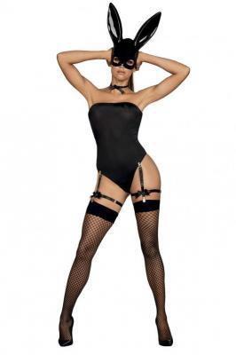 Obsessive Bunny costume Nocna sexy kostium, czarny