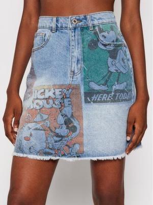 Desigual Spódnica jeansowa India 21WWFD07 Niebieski Slim Fit