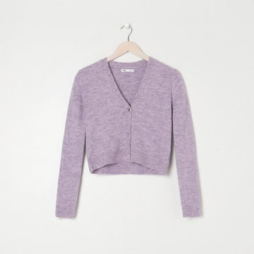 Sinsay - Sweter rozpinany - Fioletowy