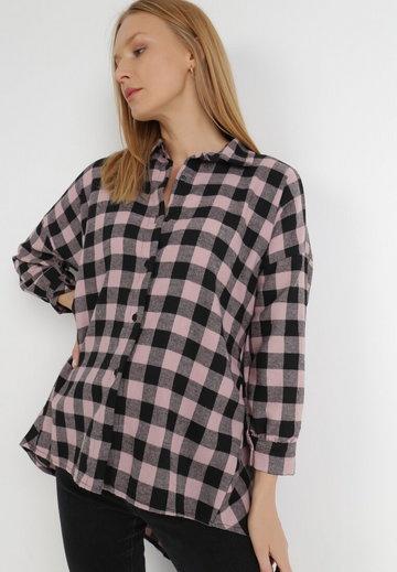 Czarno-Różowa Koszula Verephise
