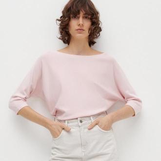 Reserved - Gładki sweter - Różowy
