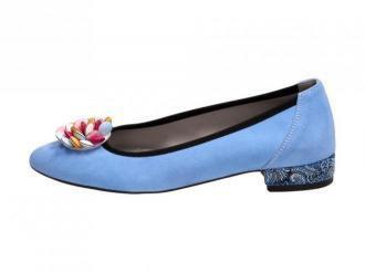 POLSKIE baleriny damskie SUZANA 4024Z BLUE
