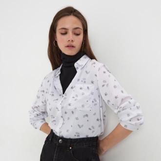 Sinsay - Koszula z nadrukiem - Biały