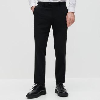 Reserved - Eleganckie spodnie z zaprasowanym kantem - Czarny