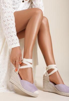 Liliowe Sandały Axiphisei