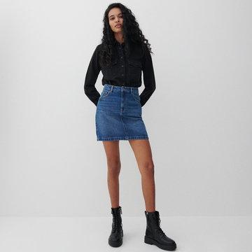 Reserved - Denimowa spódnica mini - Granatowy