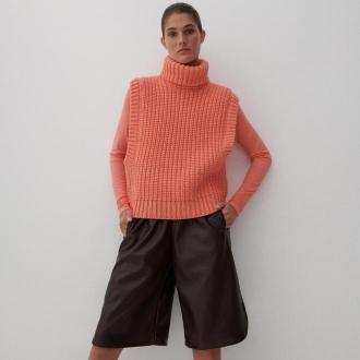 Reserved - Spodnie typu bermudy - Brązowy