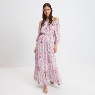 Mohito - Sukienka hiszpanka w kwiaty - Różowy