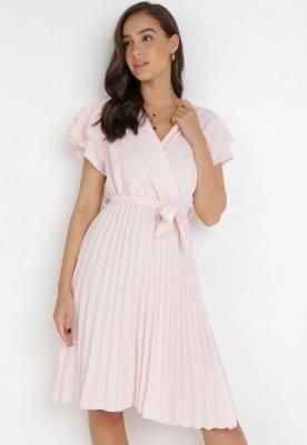 Jasnoróżowa Sukienka Theleithe