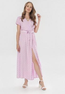 Jasnofioletowa Sukienka Delmaros
