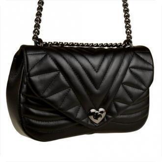 Vera pelle czarna torebka skórzana pikowana rozmiar m