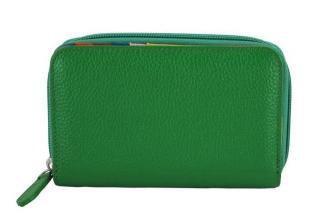 Barberini's - skórzany portfel damski - Zielony